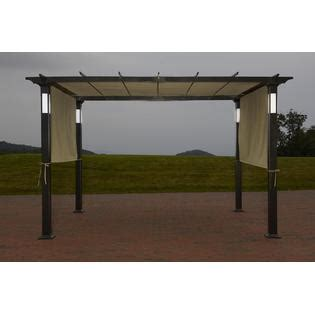 Garden Oasis Arbor With Lights Led Lighted Pergola Classic Sun Shade And Evening Shelter
