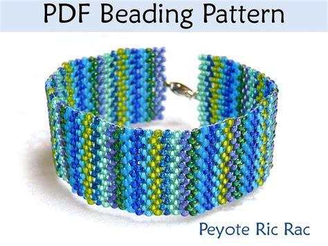 peyote beading patterns beading tutorial pattern bracelet peyote stitch simple