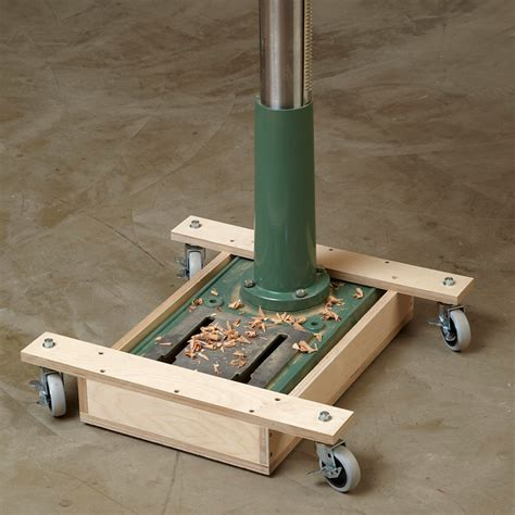 woodworking press mobile drill press base woodworking plan from wood magazine