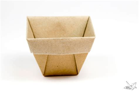 origami boxes tapered origami box origami plant pot tutorial paper