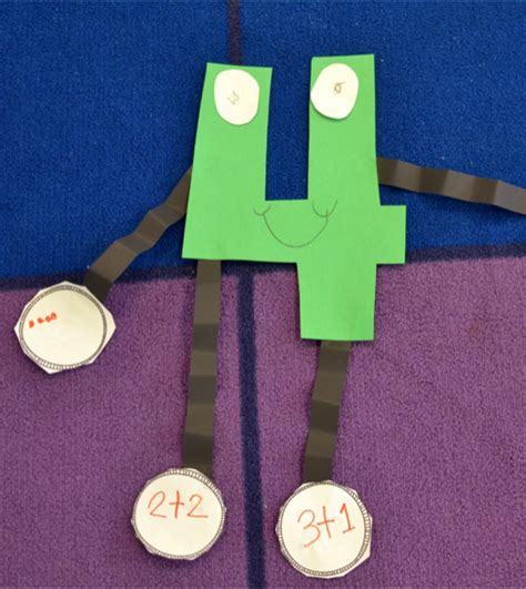 number craft for arts and crafts with number and alphabet crafts and arts