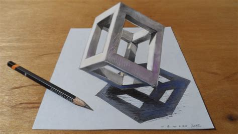 3d drafting how to draw 3d cube drawing 3d cube standing cube at