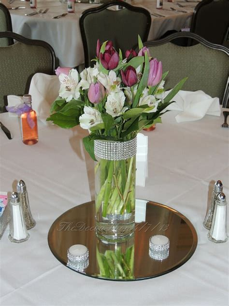 glass cylinder centerpieces items similar to glass cylinder vases bling wedding