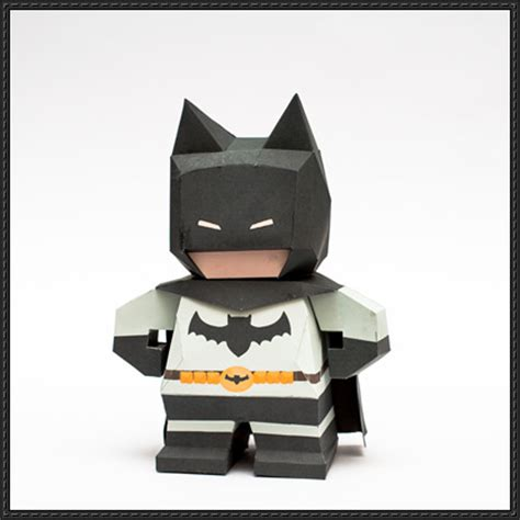 paper craft square chibi batman free paper