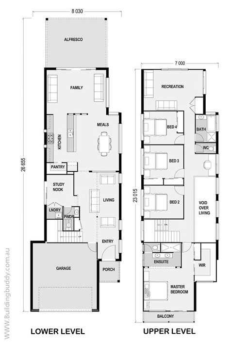 house floor plans for narrow lots 25 best ideas about narrow house plans on
