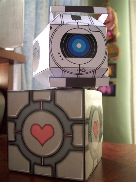 paper craft company papercraft wheatley and company cube portal series by