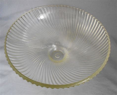 Vintage Torchiere Lamp Shades by 1950s Vintage Holophane Swirled Ribbed Glass Ceiling Light