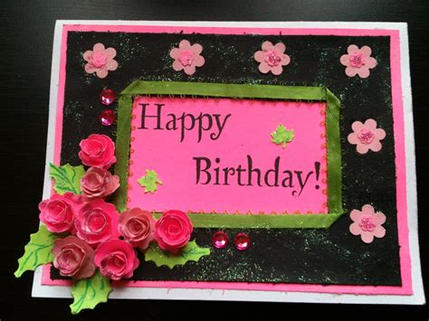 how to make birthday card for bday card start to finish and quilled paper tutorial