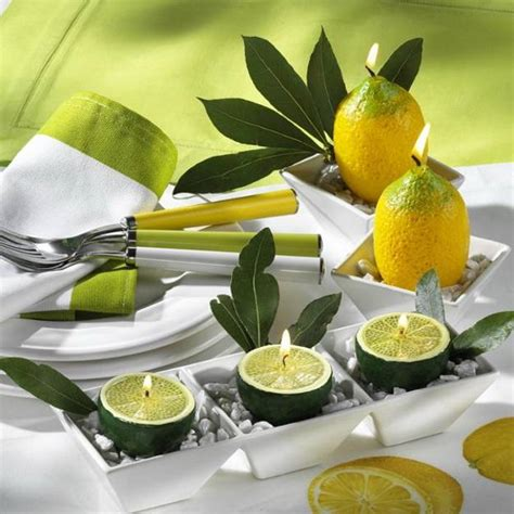 Green And Yellow Table Decorations by 22 Modern Ideas For Table Decoration With Lemons And