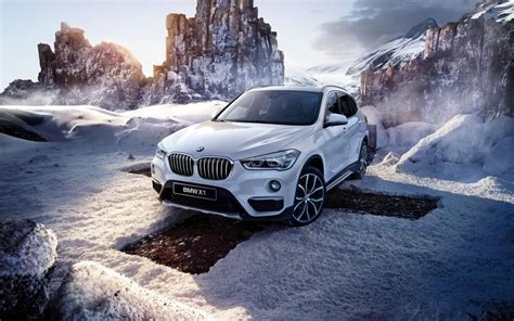 Car Wallpaper Winter by Bmw X1 F48 White Car Winter Snow Wallpaper Cars