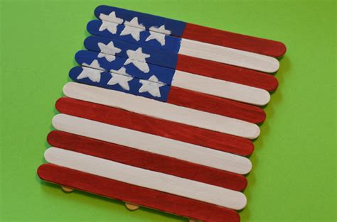 flag crafts for patriotic american flag craft stick craft for