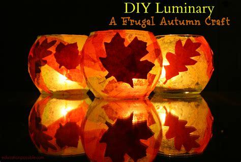 autumn craft diy luminary a frugal autumn craft