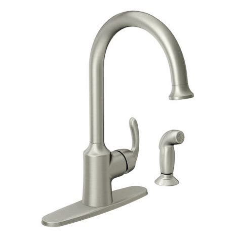 menards moen kitchen faucets moen bayhill single handle high arc kitchen faucet at menards 174