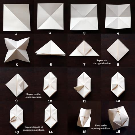 origami out of paper diy origami cube lights spoon tamago