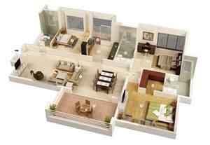 3 bedroom plan 25 more 3 bedroom 3d floor plans architecture design