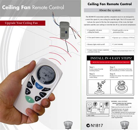 ceiling fan controls lucci universal ceiling fan remote pack