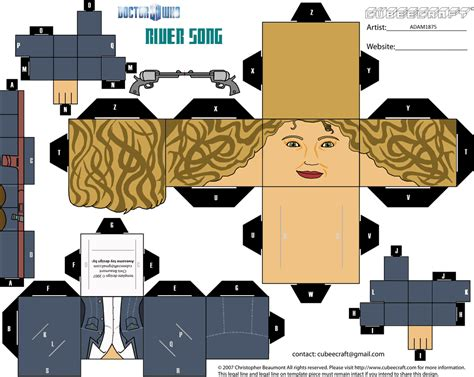 paper cube craft cubeecraft doctor who cubeecraft doctor who river song