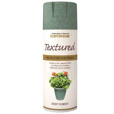 spray paint forest rust oleum textured multi colour finish forest green