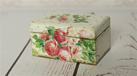 Decoupage Tutorial Tea Box