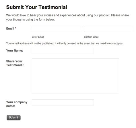 how to collect user submitted testimonials on your