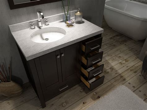 bathroom vanities with top ace cambridge 37 inch single sink bathroom vanity set