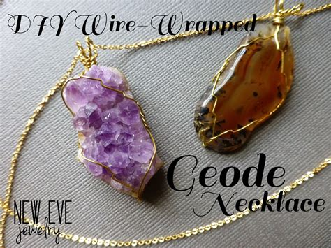 how to make rock jewelry with wire new jewelry diy geode necklace how to wire wrap