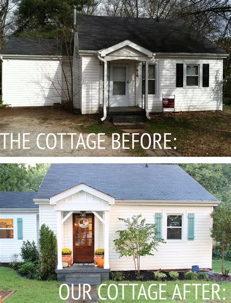 before and after cottage makeover our cottage exterior before after