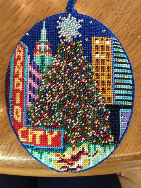 bead world nyc needlepoint ornament and nyc on