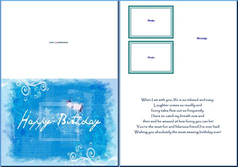 cards in word exle of birthday card for him summer blue birthday