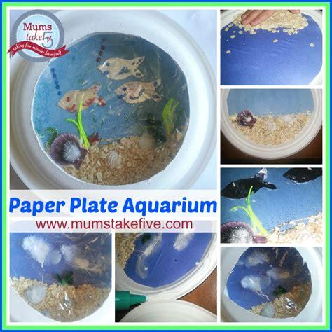 paper plate aquarium craft water theme craft paper plate aquarium