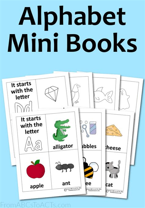 alphabet picture books alphabet mini books from abcs to acts