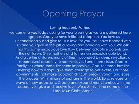 prayer for opening adoption prayer service 2
