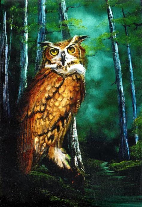 bob ross painting owls bob ross wildlife packet midnight owl wildlife