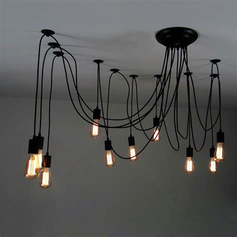 multi pendant ceiling light 10 light adjustable swag pendant black pendant