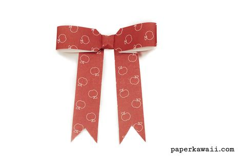 ribbon origami origami bow ribbon with tails tutorial paper kawaii