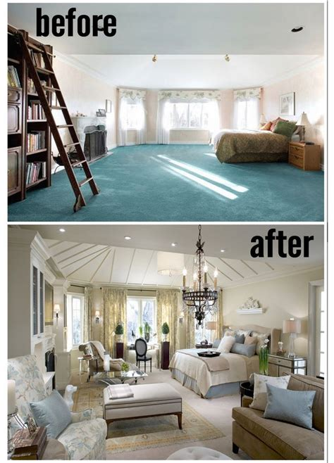 before and after a designer best 25 large bedroom ideas on mid century