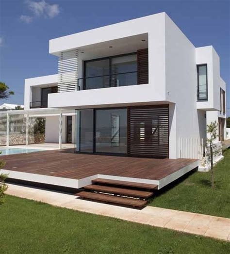 minimalistic house unique shape of two story modern minimalist house design