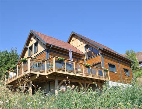 grande maison bois style chalet nos maisons ossatures bois 68 haut rhin