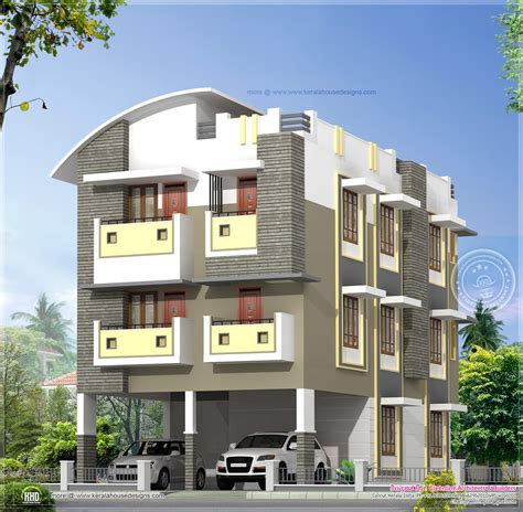 three story home plans june 2014 home kerala plans