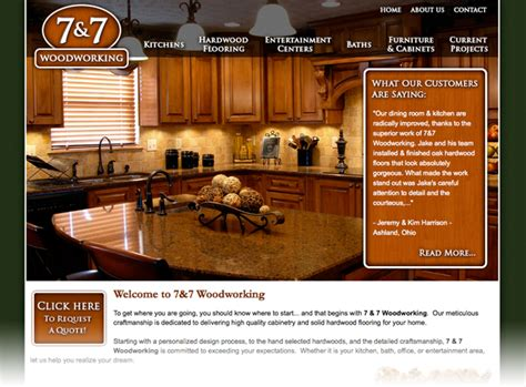 woodworkers web wooster ohio website design 7 7 woodworking spire