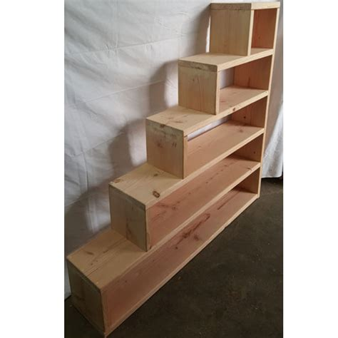 steps for bunk beds solid wood custom made stairs for bunk or loft bed usmfs