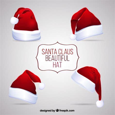 santa and hats beautiful santa claus hats vector free