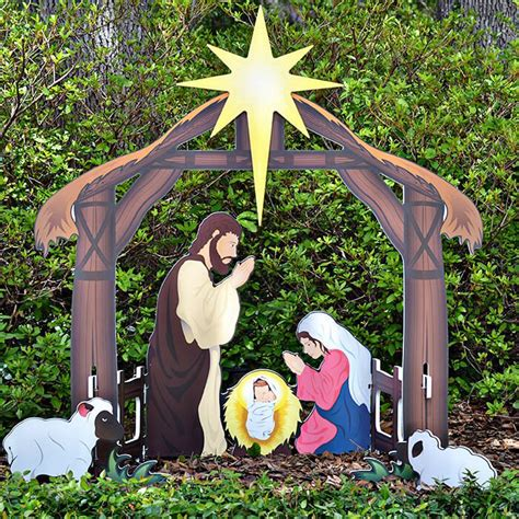 nativity decorations outdoor holy printed outdoor nativity set