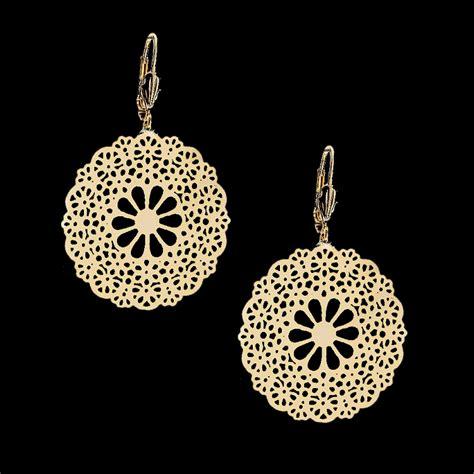 filigree jewelry 18kt gold layered filigree earrings oro laminado
