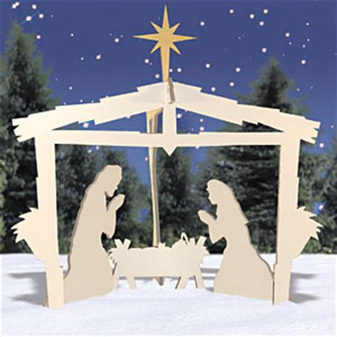 nativity pattern woodworking plans winter white nativity wood plans