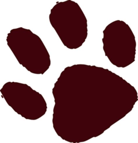 paw print brown paw print md free images at clker vector