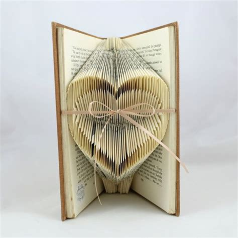 crafts book folded small upcycled book sculpture