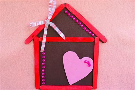 how to make crafts home is where the is magnet popsicle stick craft for