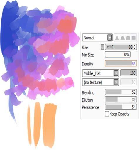 paint tool sai blending tutorial blend paintbrush paint tool sai brush settings