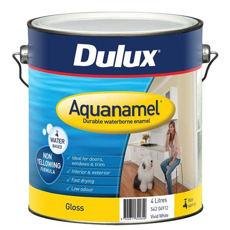 acrylic paint vs enamel paint dulux aquanamel 4l white high gloss enamel paint